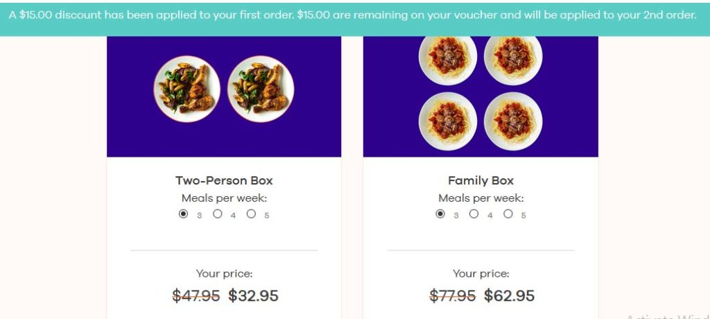 Dinnerly Coupon codes